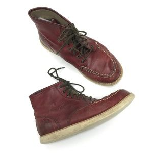 eastland moc toe boot lace up leather